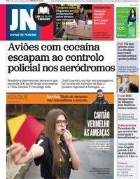 capa Jornal de Notícias de 20 fevereiro 2021