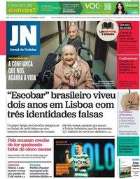 capa Jornal de Notícias de 21 fevereiro 2021