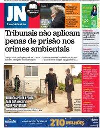 capa Jornal de Notícias de 22 fevereiro 2021
