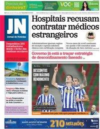 capa Jornal de Notícias de 23 fevereiro 2021