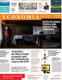 capa Jornal Expresso Economia de 20 fevereiro 2021
