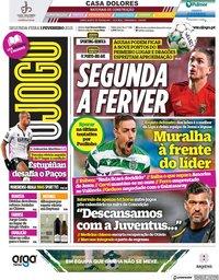 capa Jornal O Jogo de 1 fevereiro 2021