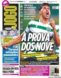 capa Jornal O Jogo de 2 fevereiro 2021