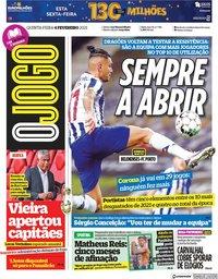 capa Jornal O Jogo de 4 fevereiro 2021