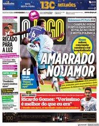 capa Jornal O Jogo de 5 fevereiro 2021