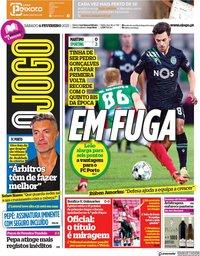 capa Jornal O Jogo de 6 fevereiro 2021