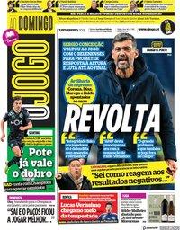 capa Jornal O Jogo de 7 fevereiro 2021