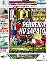 capa Jornal O Jogo de 8 fevereiro 2021