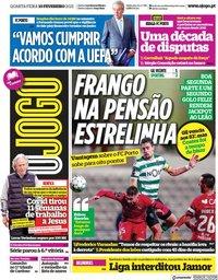 capa Jornal O Jogo de 10 fevereiro 2021