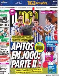 capa Jornal O Jogo de 11 fevereiro 2021