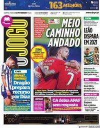 capa Jornal O Jogo de 12 fevereiro 2021