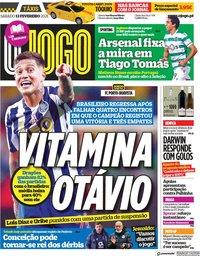 capa Jornal O Jogo de 13 fevereiro 2021