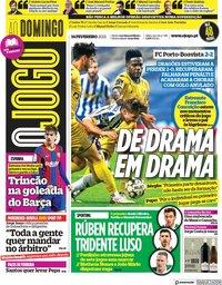 capa Jornal O Jogo de 14 fevereiro 2021