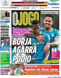 capa Jornal O Jogo de 15 fevereiro 2021