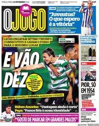 capa Jornal O Jogo de 16 fevereiro 2021
