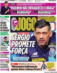 capa Jornal O Jogo de 17 fevereiro 2021
