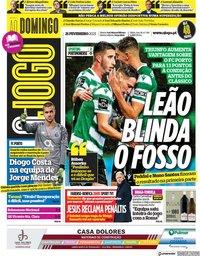 capa Jornal O Jogo de 21 fevereiro 2021