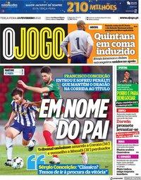 capa Jornal O Jogo de 23 fevereiro 2021