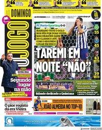 capa Jornal O Jogo de 28 fevereiro 2021