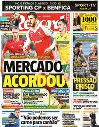 capa Jornal Record de 1 fevereiro 2021
