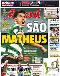 capa Jornal Record de 2 fevereiro 2021