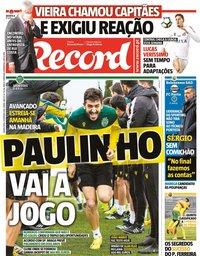 capa Jornal Record de 4 fevereiro 2021