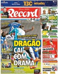 capa Jornal Record de 5 fevereiro 2021
