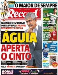 capa Jornal Record de 7 fevereiro 2021
