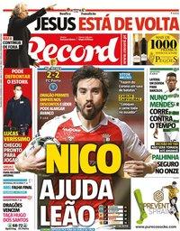 capa Jornal Record de 8 fevereiro 2021
