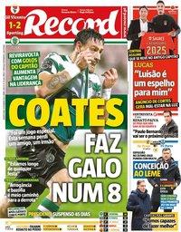capa Jornal Record de 10 fevereiro 2021