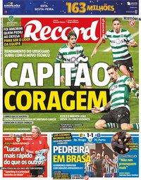 capa Jornal Record de 11 fevereiro 2021