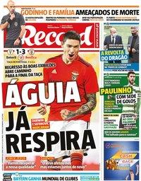 capa Jornal Record de 12 fevereiro 2021