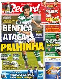 capa Jornal Record de 13 fevereiro 2021