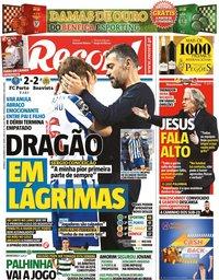 capa Jornal Record de 14 fevereiro 2021