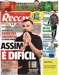 capa Jornal Record de 15 fevereiro 2021