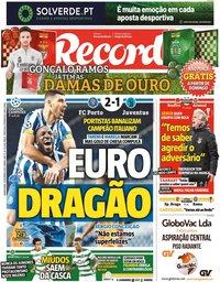 capa Jornal Record de 18 fevereiro 2021