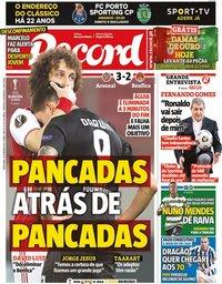 capa Jornal Record de 26 fevereiro 2021