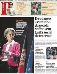 capa Público de 2 fevereiro 2021