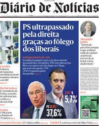 capa Diário de Notícias de 1 março 2021