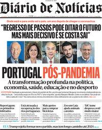 capa Diário de Notícias de 2 março 2021