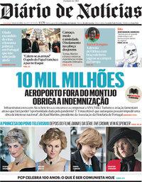 capa Diário de Notícias de 6 março 2021