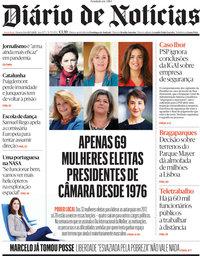 capa Diário de Notícias de 10 março 2021