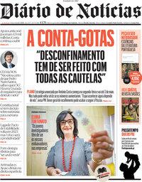capa Diário de Notícias de 12 março 2021