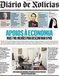 capa Diário de Notícias de 13 março 2021