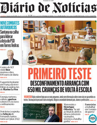 capa Diário de Notícias de 15 março 2021