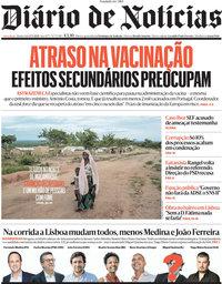 capa Diário de Notícias de 17 março 2021