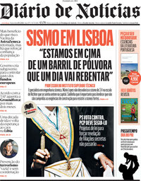 capa Diário de Notícias de 19 março 2021