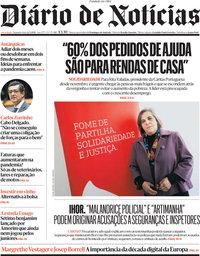 capa Diário de Notícias de 22 março 2021