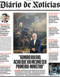 capa Diário de Notícias de 23 março 2021