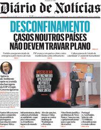 capa Diário de Notícias de 24 março 2021
